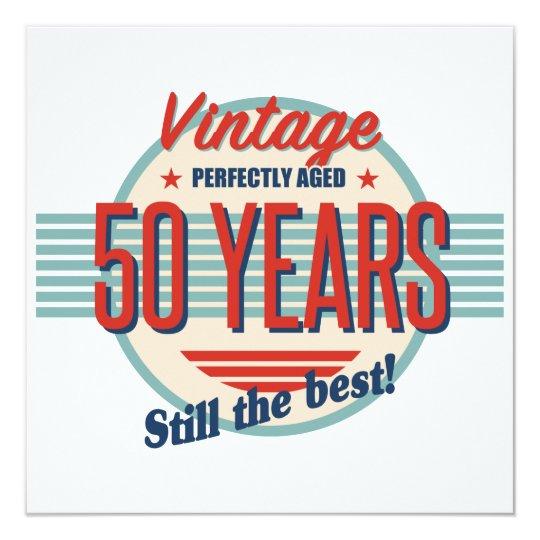 Funny 50th Birthday Old Fashioned Card