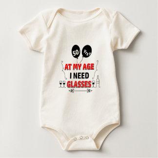 Funny 50th year birthday gift baby bodysuit