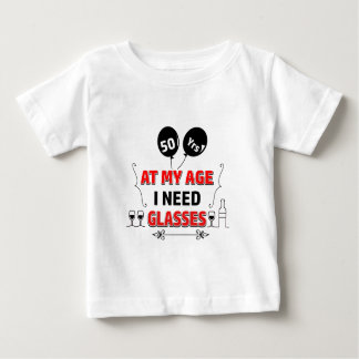 Funny 50th year birthday gift baby T-Shirt