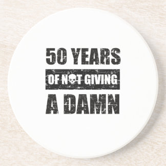 Funny 50th year birthday gift coaster