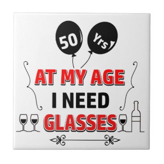Funny 50th year birthday gift tile