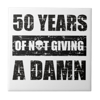 Funny 50th year birthday gift tiles