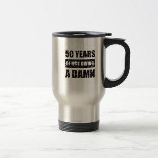 Funny 50th year birthday gift travel mug