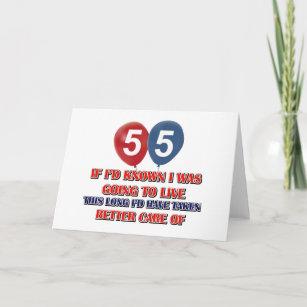 Funny 55 Year Old Birthday Card