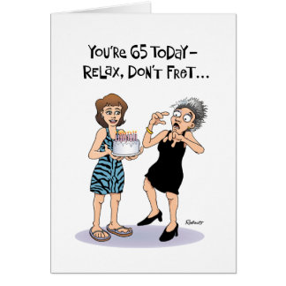 Funny 65th Birthday Card for Woman