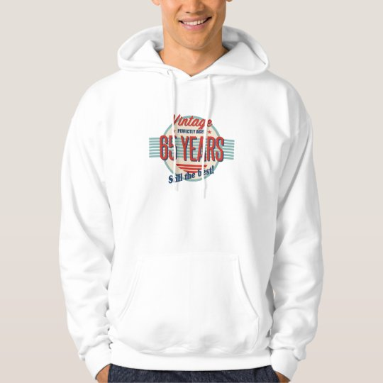 Funny 65th Birthday Old Fashioned Hoodie