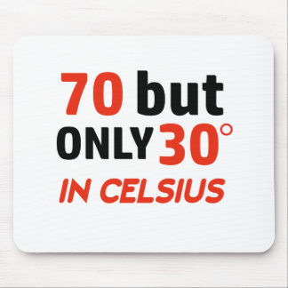 funny 70 birthday design mouse pad