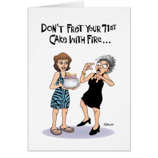 Funny 71st Birthday Card