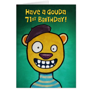 Funny 71st Birthday Card for Her