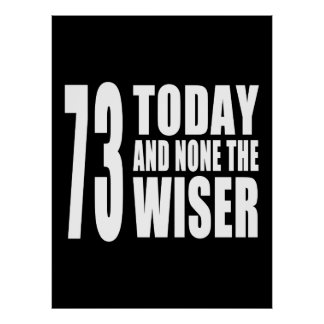 Funny 73rd Birthdays : 73 Today and None the Wiser Posters