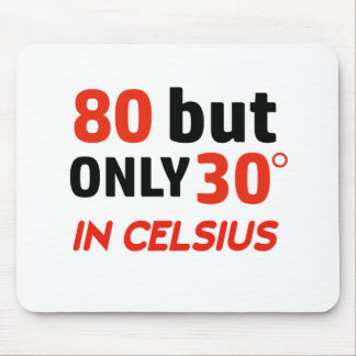 funny 80 birthday design mouse pad