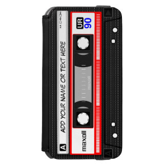 Funny 80's Retro Red Music Cassette Tape Incipio Watson™ iPhone 6 Wallet Case