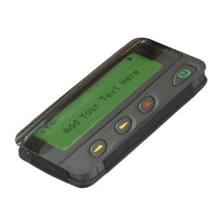 Funny 90s Old School Pager with Custom Text iPhone Pouch