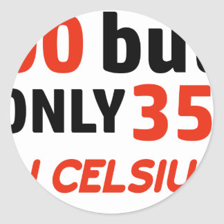 Funny 90th birthday design classic round sticker