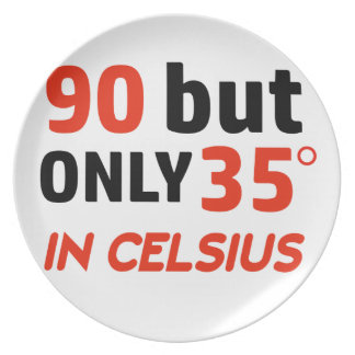 Funny 90th birthday design party plates