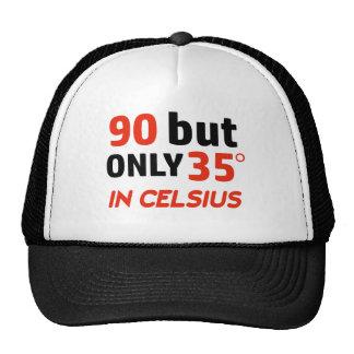 Funny 90th birthday design trucker hat