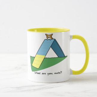 Funny A-Frame Agility Corgi Mug