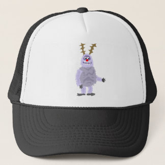 Funny Abominable Snowman Christmas Art Trucker Hat