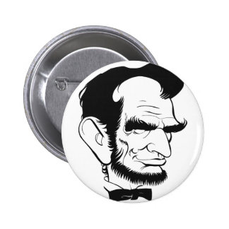 funny abraham lincoln caricature 2 inch round button
