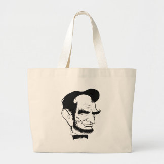 funny abraham lincoln caricature large tote bag