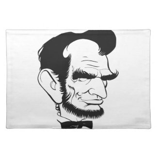 funny abraham lincoln caricature place mat