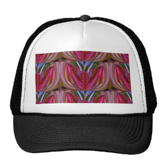 FUNNY Abstract art Colorful Shades LIPS Kiss Flowe Trucker Hat