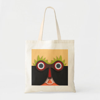 Funny abstract Art Face Budget Tote Bag