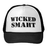 Funny Accent Yankee Wicked Smart Smaht Bostonian Trucker Hat
