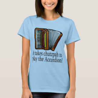 Funny Accordion T-shirt for ladies