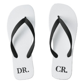Funny Accountant or CPA Joke Flip Flops