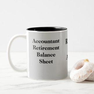 Funny Accountant Retirement Gift Idea Joke Two-Tone Coffee Mug