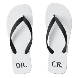Funny Accounting DR CR Debit Credit Accountant Flip Flops