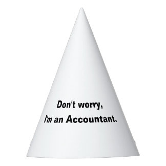Funny Accounting Party Hat for Accountants