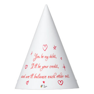 Funny Accounting Party Hat - Love Poem