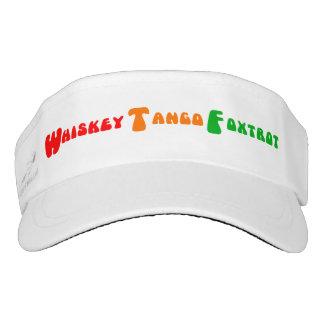 Funny acronym WTF Whiskey Tango Foxtrot Visor