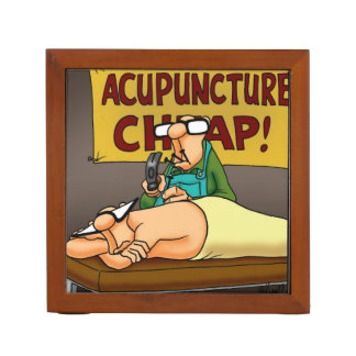 Funny Acupuncture Office Gift Desk Organizer