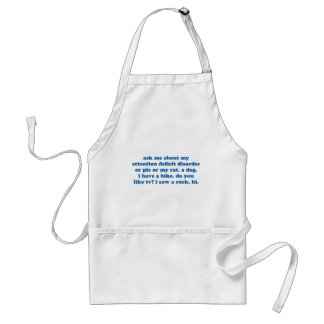 Funny ADD ADHD Quote - Blue Print Standard Apron