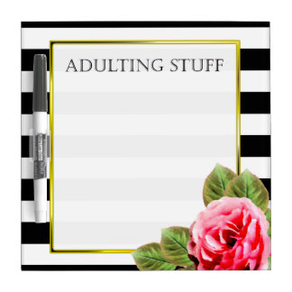 Funny Adulting Stuff For Women Dry Erase Board