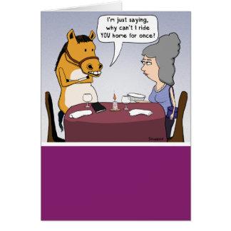 Funny Adventurous Horse Birthday Card