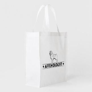 Funny Affenpinscher Affie Affenologist Reusable Grocery Bag