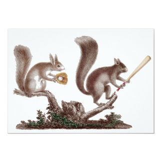 Funny After Game BBQ Rally Squirrels Invitations