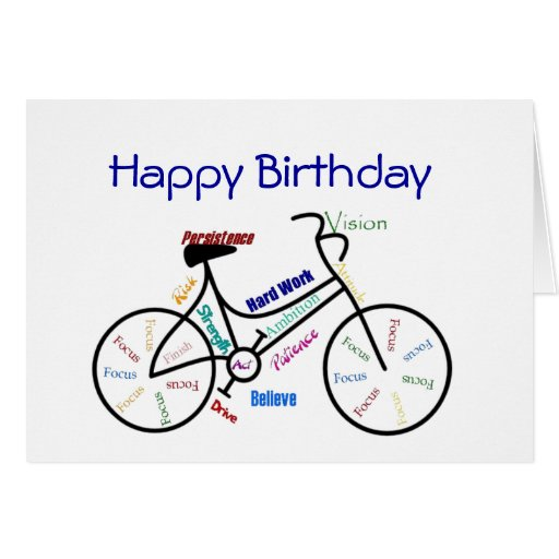 Funny Age Birthday Bike, Cycling, Sport, Hobby Greeting Cards