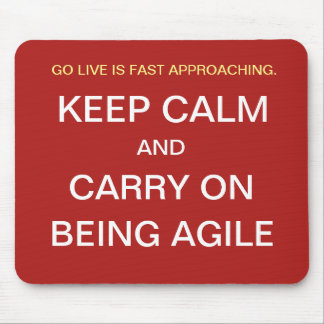 Funny Agile Project Manager Gift Keep Calm Joke Mouse Pad