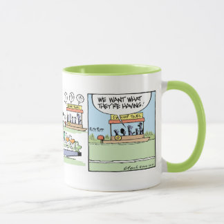 Funny Air Boating Croc Comic Mug
