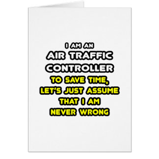 Funny Air Traffic Controller T-Shirts Card