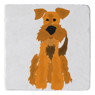 Funny Airedale Terrier Dog Trivet