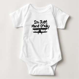 funny airplane baby bodysuit