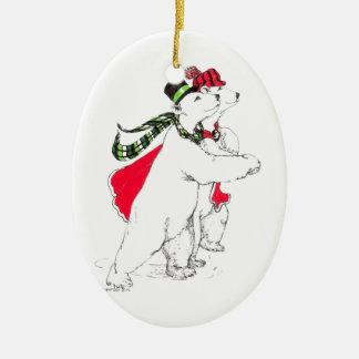 Funny Alaska Wildlife Christmas Oval Ornament