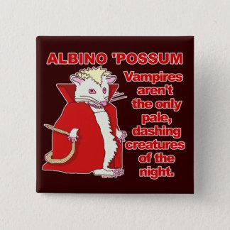 Funny Albino Possum Vampire Animal 2 Inch Square Button