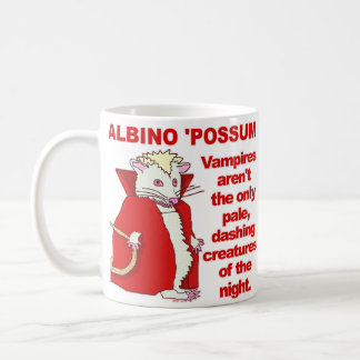 Funny Albino Possum Vampire Animal Coffee Mug